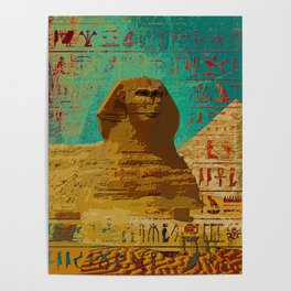 Sphinx  Abstract composition Poster
