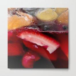 Sangria : Icy Juicy wine marinated fruit in hues of red and orange Metal Print