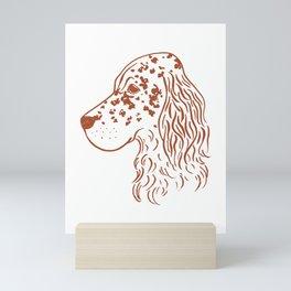 English Setter (White and Brown) Mini Art Print