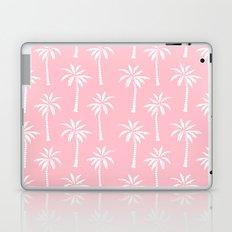 Palm trees pink tropical minimal ocean seaside socal beach life pattern print Laptop & iPad Skin