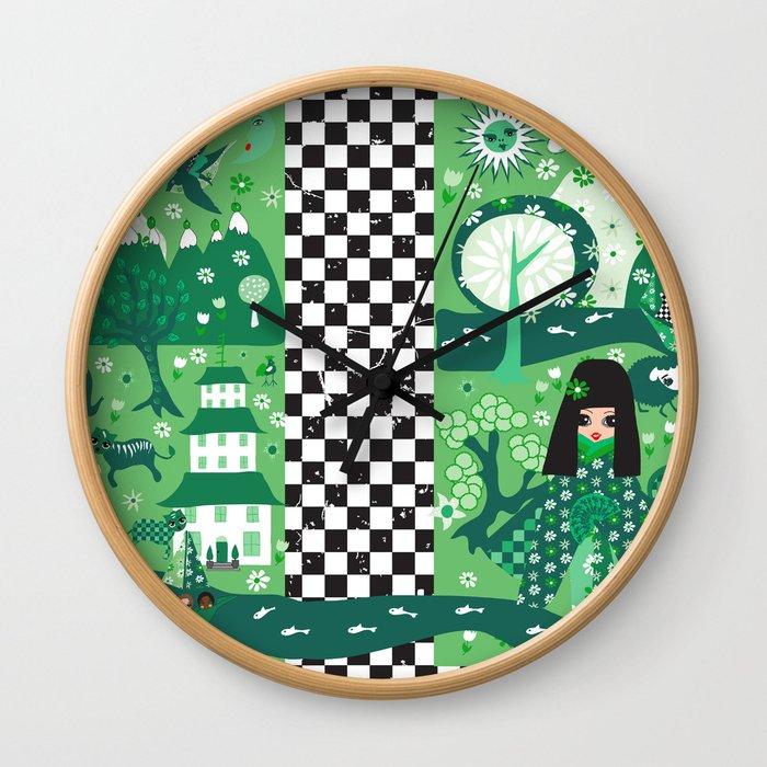 japanese garden Wall Clock