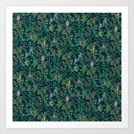 Bird Kingdom Floral Art Print