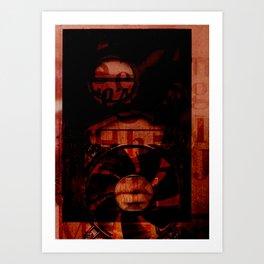 Found Art Digital49 Art Print