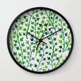 Summer Ivy Wall Clock
