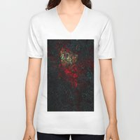 geology V-neck T-shirts featuring volcano beautiful nature by Alexandr-Az