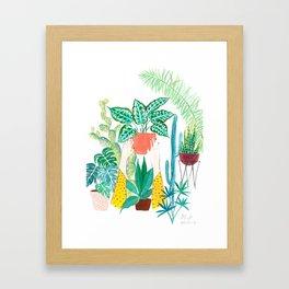 Greenhouse gardener Framed Art Print