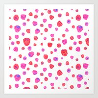 Fruit of the Day: Raspberry Art Print