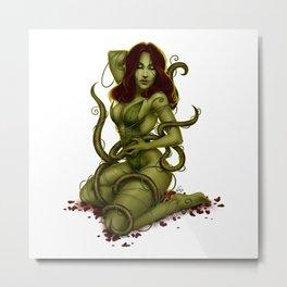 Poison Ivy Pinup Metal Print