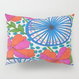 Flowers and Pinwheels Jungle Print Pillow Sham
