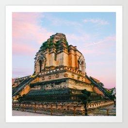 Buddhist Temple in Chiang Mai Fine Art Print Art Print