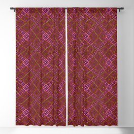 African Mud Cloth Inspired | Diamond Pattern Blackout Curtain