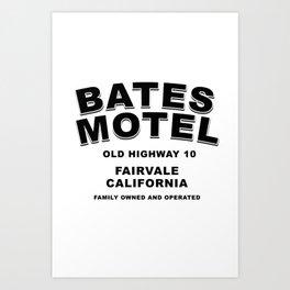 Psycho inspired Bates Motel logo Art Print