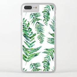 Jungle Ferns Clear iPhone Case