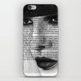 White Block II iPhone Skin