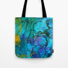 Multicolored marble ii Tote Bag