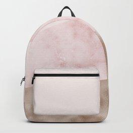 Urban blush marble geo Backpack