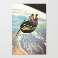lovers Canvas Prints featuring Lovers by flirst