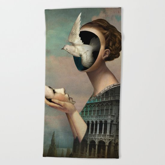 Garden of Melancholia Beach Towel