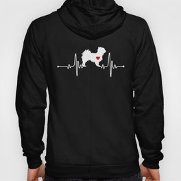 Long haired Chihuahua dog heartbeat Hoody
