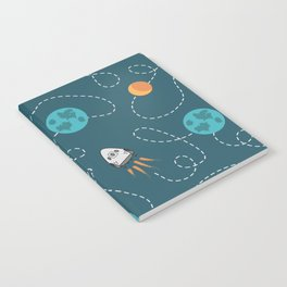 Flying to the moon pattern design on products Notebook