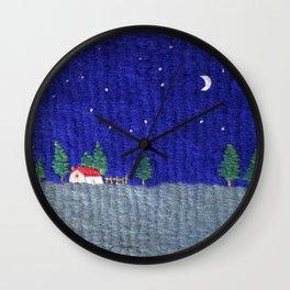 Night scenes Wall Clock