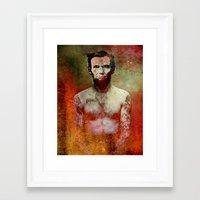 tatoo Framed Art Prints featuring Abraham Tatoo by Ganech joe
