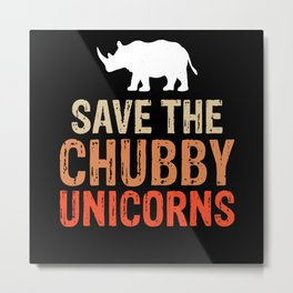 Animal Rhino Animal Protection Metal Print