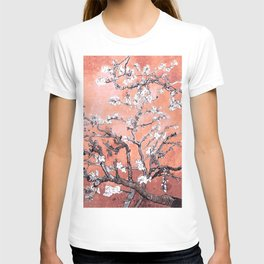 Van Gogh Almond Blossoms : Deep Peach T-shirt