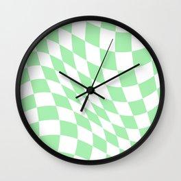 Warped Check  Wall Clock