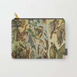 Reptiles Vintage Scientific Illustration French Language Encyclopedia Lithographs Educational Diagra Carry-All Pouch