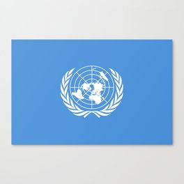 Flag on United nations -Un,World,peace,Unesco,Unicef,human rights,sky,blue,pacific,people,state,onu Canvas Print