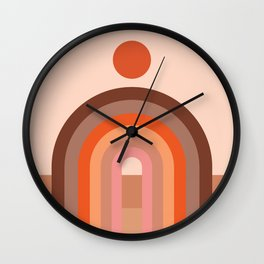 Abstraction_SUN_Rainbow_Minimalism_002 Wall Clock