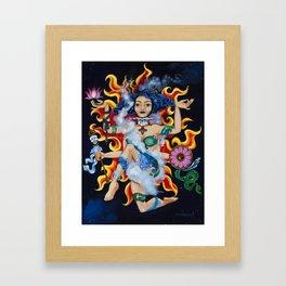 """""""Fire""""  Earth Girl painting by Emma Gardner Framed Art Print"""