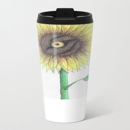 Seeing Sunflowers Metal Travel Mug