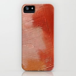 Desert Journey [1]: a textured, abstract piece in pinks, reds, and white by Alyssa Hamilton Art iPhone Case