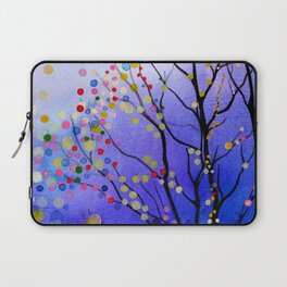 sparkling winter night sky Laptop Sleeve