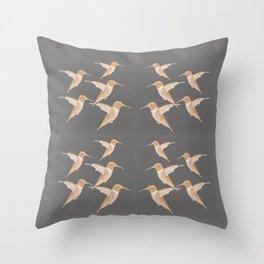 Hummingbird Design Throw Pillow