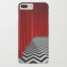 Twin Peaks Black Lodge with Chevron Floor and Red Curtains  iPhone 7 Plus Slim Case