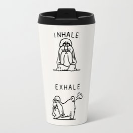 Inhale Exhale Shih Tzu Travel Mug