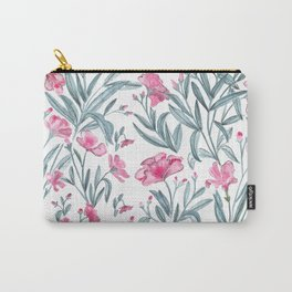 Nerium Oleander Pattern Carry-All Pouch