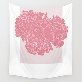 Floral Pinks Wall Tapestry
