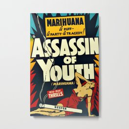 Vintage Assassin of Youth Poster Metal Print
