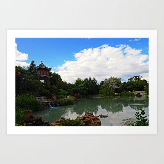 Pavilion on the Pond Art Print