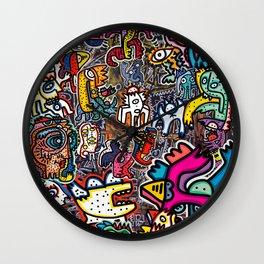 Stickers Attack Street Art Graffiti Wall Clock