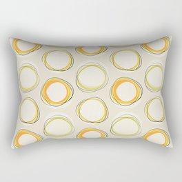 Solar Eclipse MCM Lines Rectangular Pillow