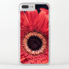 Daisy in Red Clear iPhone Case