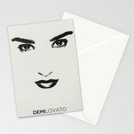 Demilovato Face Stationery Cards