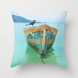 BOATI-FUL Throw Pillow