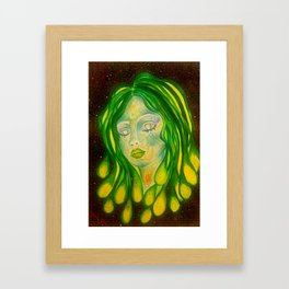 Goddess Of TheGlactic Waters Framed Art Print