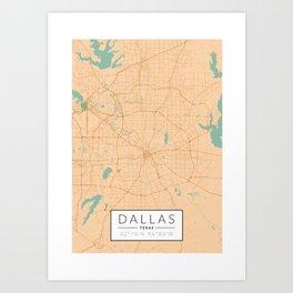 Dallas Map - Color Art Print